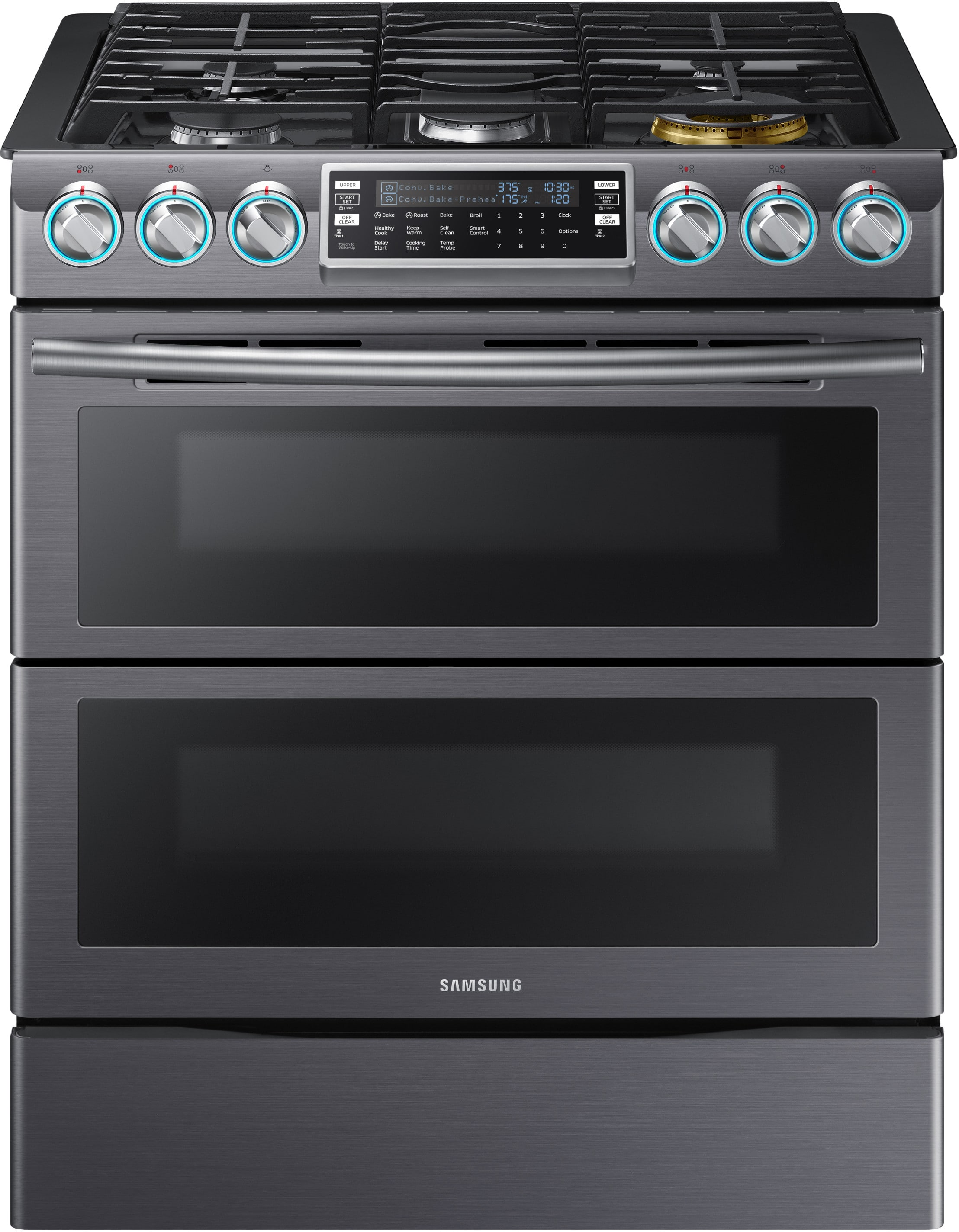 Samsung Nx58k9850sg 30 Inch Flex Duo Slide In Gas Range