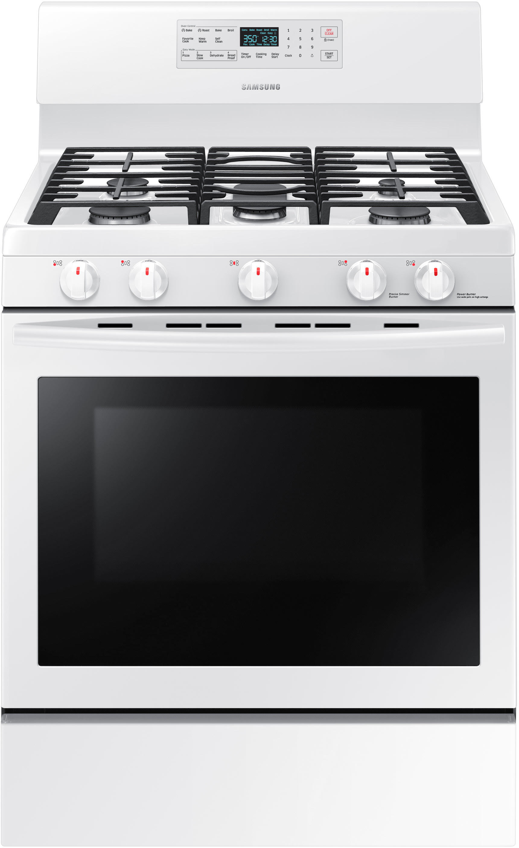 samsung nx58m5600sw 30 inch freestanding gas range with convection oven flexible cooktop and. Black Bedroom Furniture Sets. Home Design Ideas