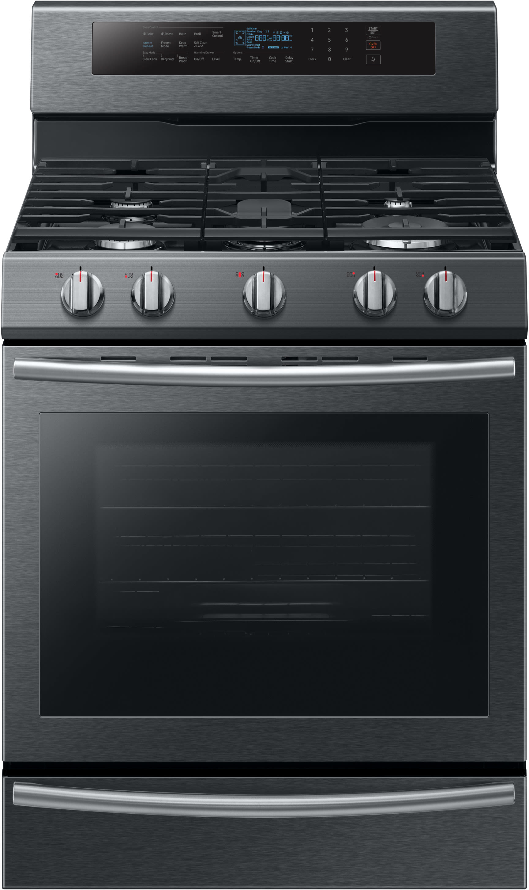 Samsung NX58M6650WG 30 Inch Freestanding Gas Range with True