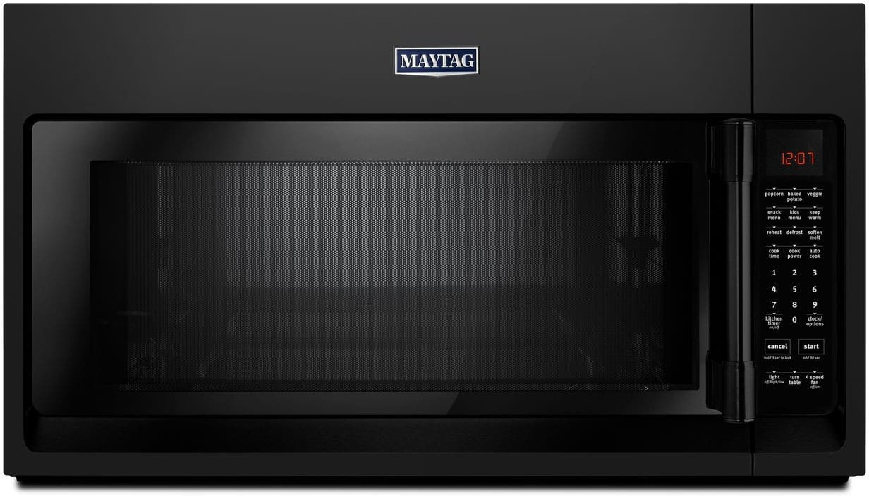 Maytag Mmv5220fb 2 1 Cu Ft Over The Range Microwave With Wideglide Tray Sensor Reheat 12