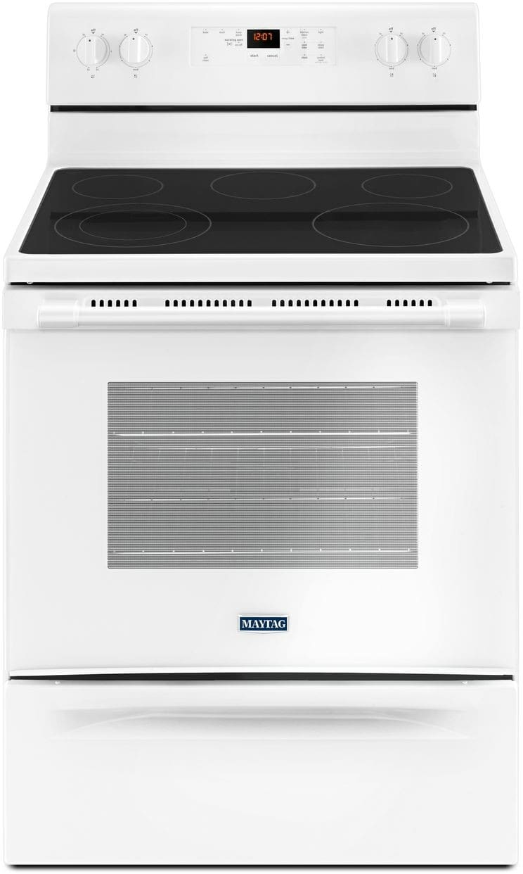 Maytag Mer6600fw 30 Inch Freestanding Electric Range With
