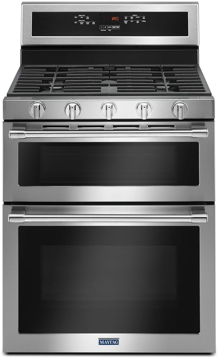 maytag mgt8800fz 30 inch freestanding gas range with double ovens true convection precision. Black Bedroom Furniture Sets. Home Design Ideas