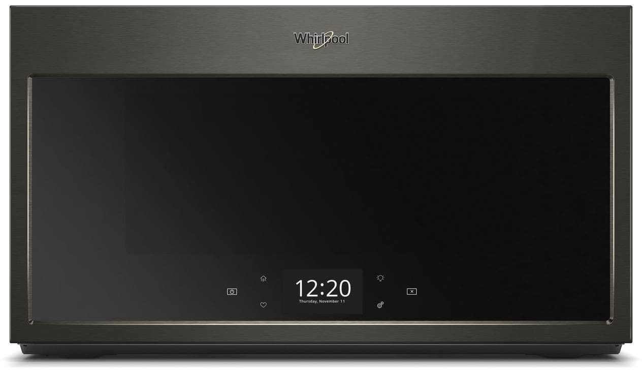Whirlpool Wmha9019hv 1 9 Cu Ft Over The Range Microwave With Scan To Cook True Convection
