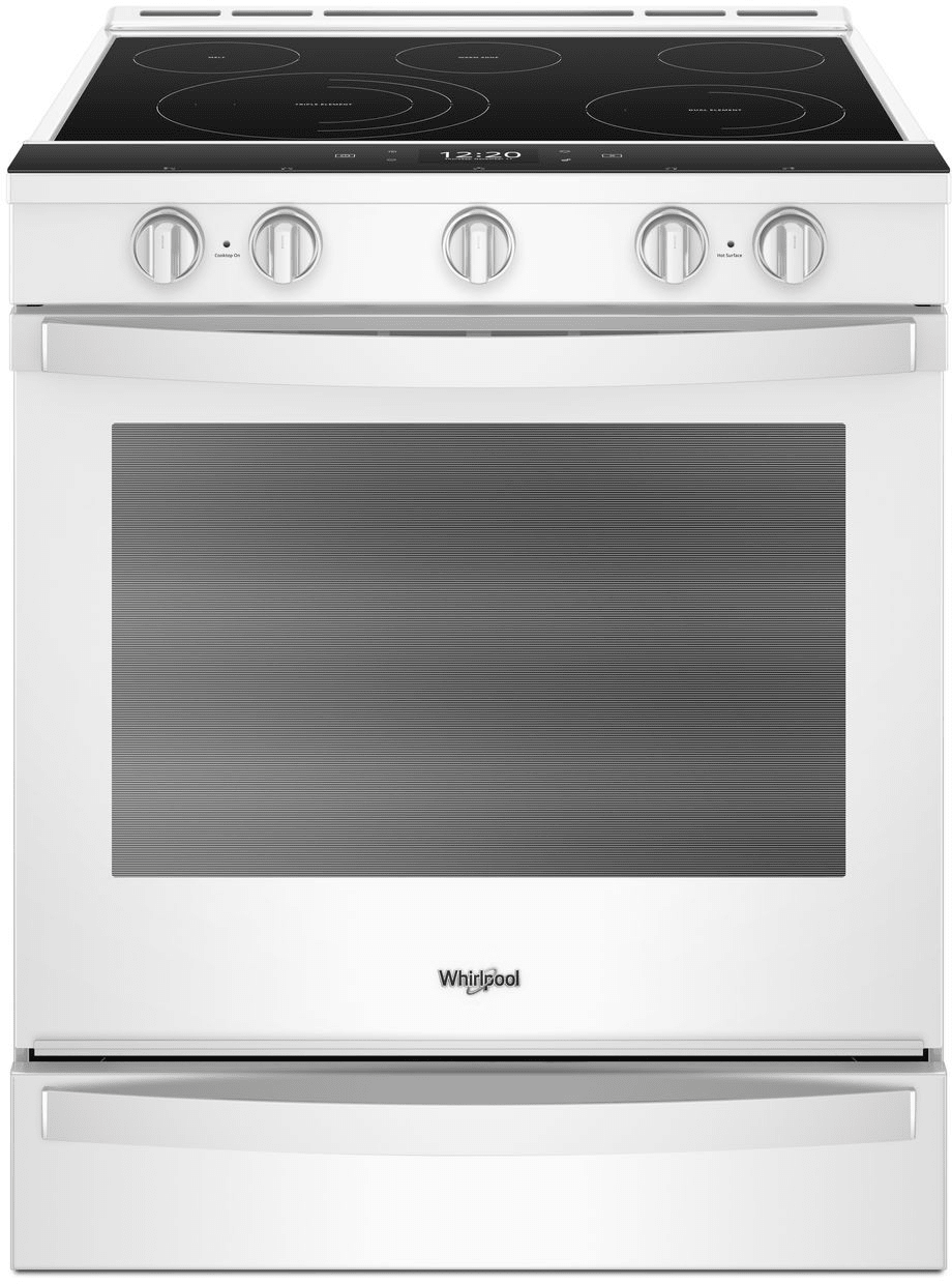 Whirlpool Wee750h0hw 30 Inch Slide In Electric Range With