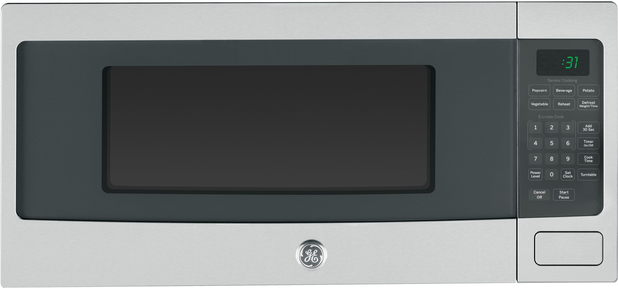 Ge Pem31sfss 1 1 Cu Ft Countertop Microwave Oven With