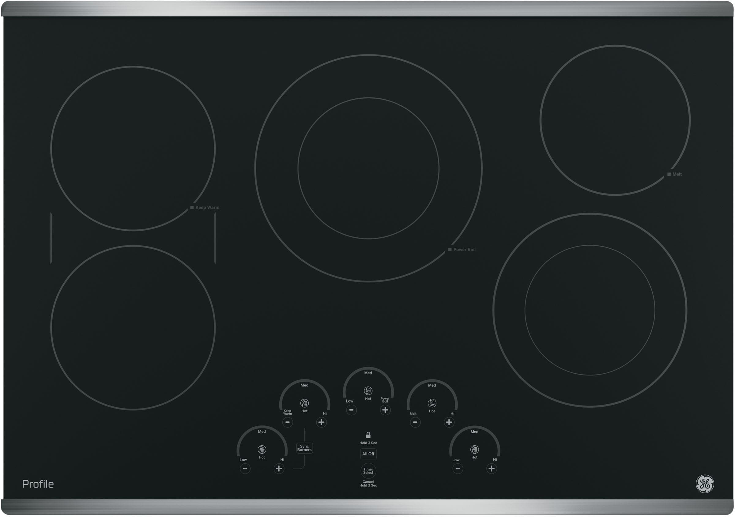 Ge Pp9030sjss 30 Inch Smoothtop Electric Cooktop With 5