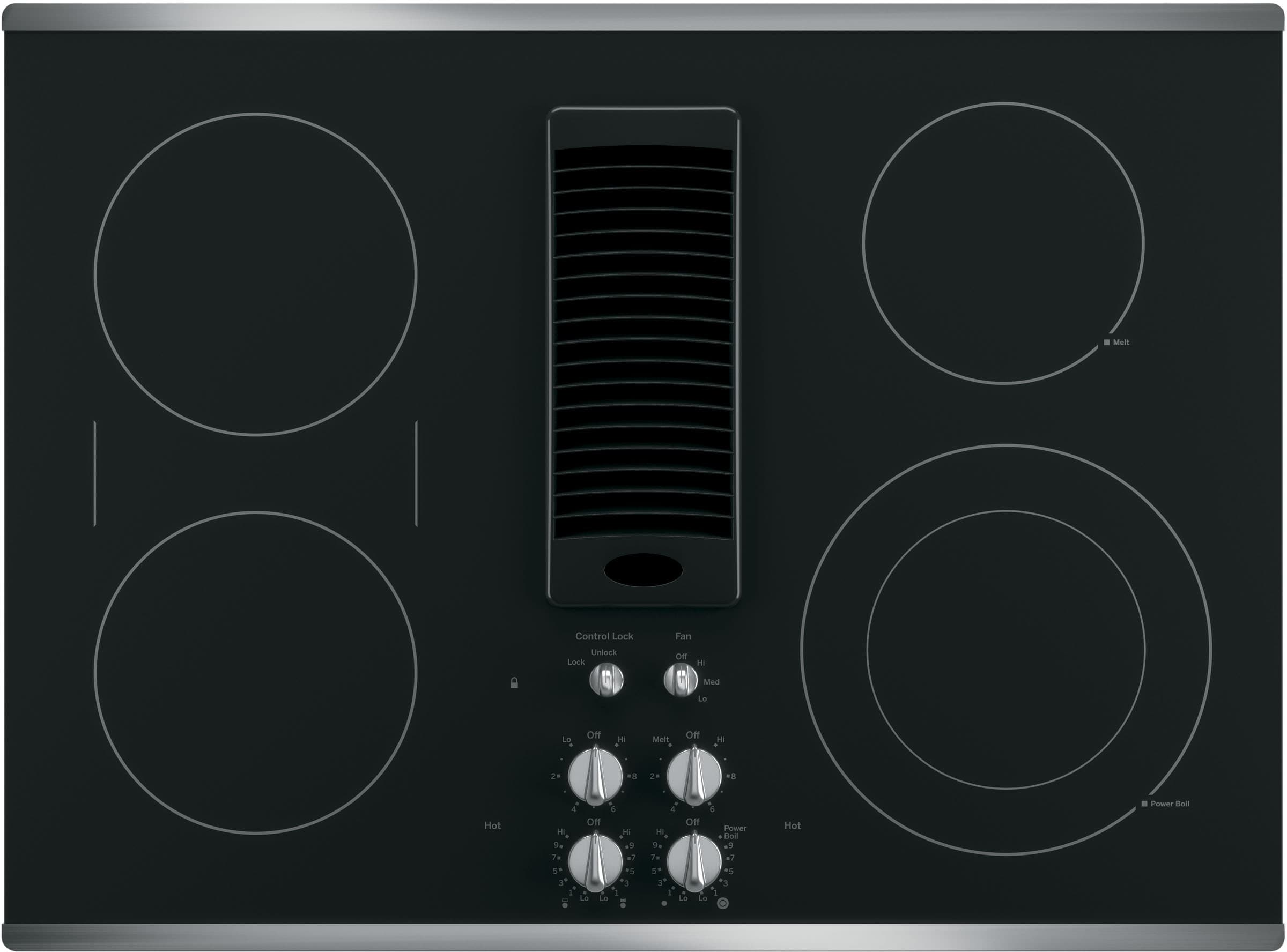 Ge Pp9830sjss 30 Inch Smoothtop Electric Cooktop With 4