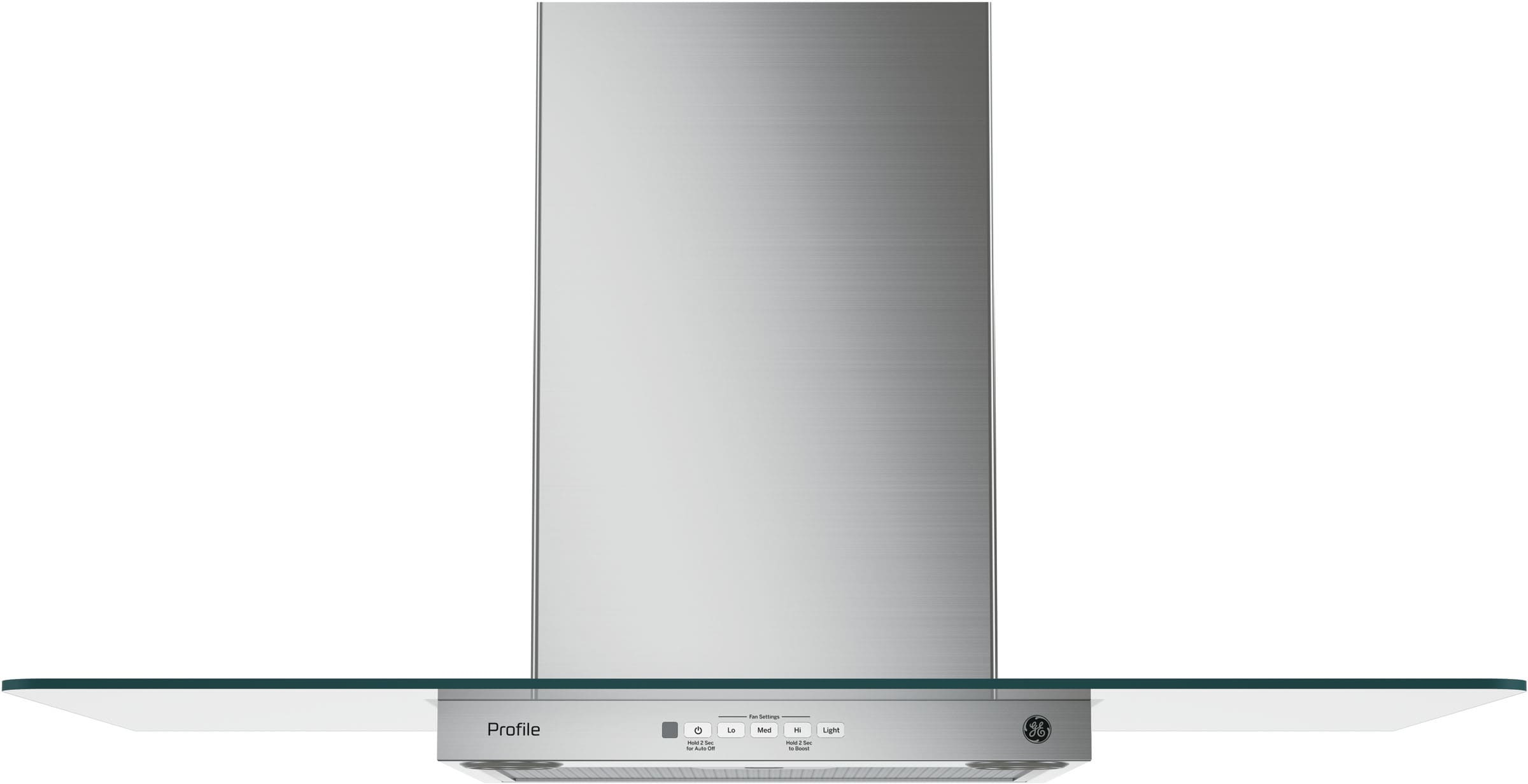GE PVW7361SJSS Wall Mount Glass Chimney Hood with 350 CFM Blower ...