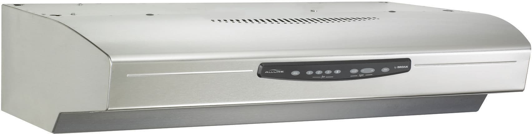 broan qs330ss 30 inch under cabinet range hood with 430 cfm internal blower 4speed electronic control and 3level light settings stainless steel