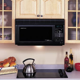 Sharp R1870 1 1 Cu Ft Over The Range Microwave Oven With