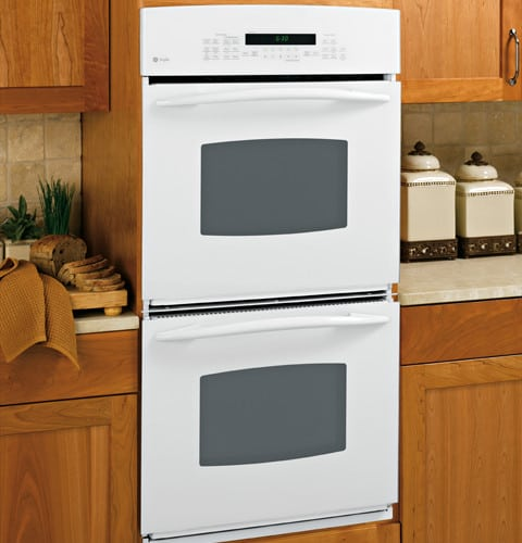 Ge Pk956wmww 27 Inch Double Electric Wall Oven With 3 9 Cu