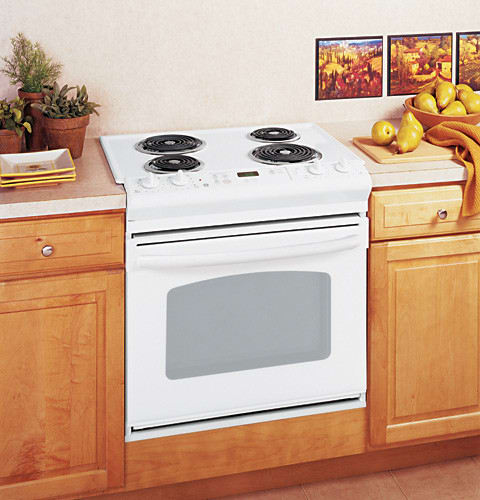 Ge Jds28dnww 30 Inch Drop In Electric Range With 4 Coil