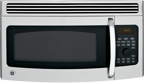 Ge jvm1665snss 1 6 cu ft over the range microwave oven with 300 cfm ventilation 1100 cooking - Red over the range microwave ...