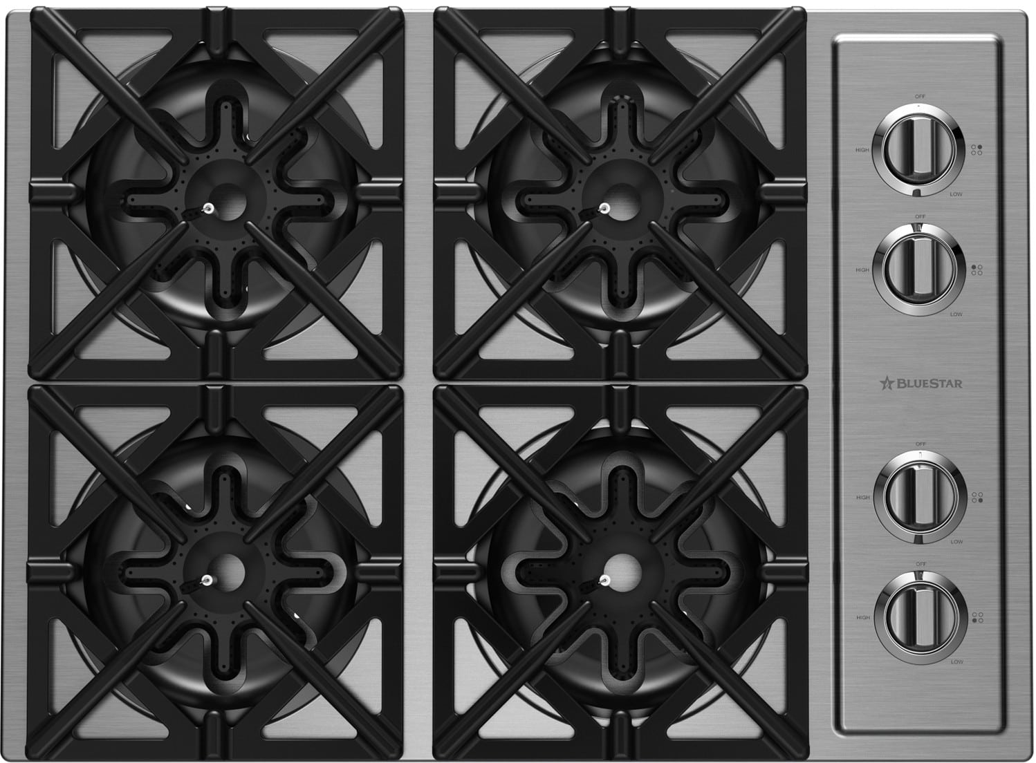 Bluestar Rbct304bssv2ng 30 Inch Drop In Cooktop With 4