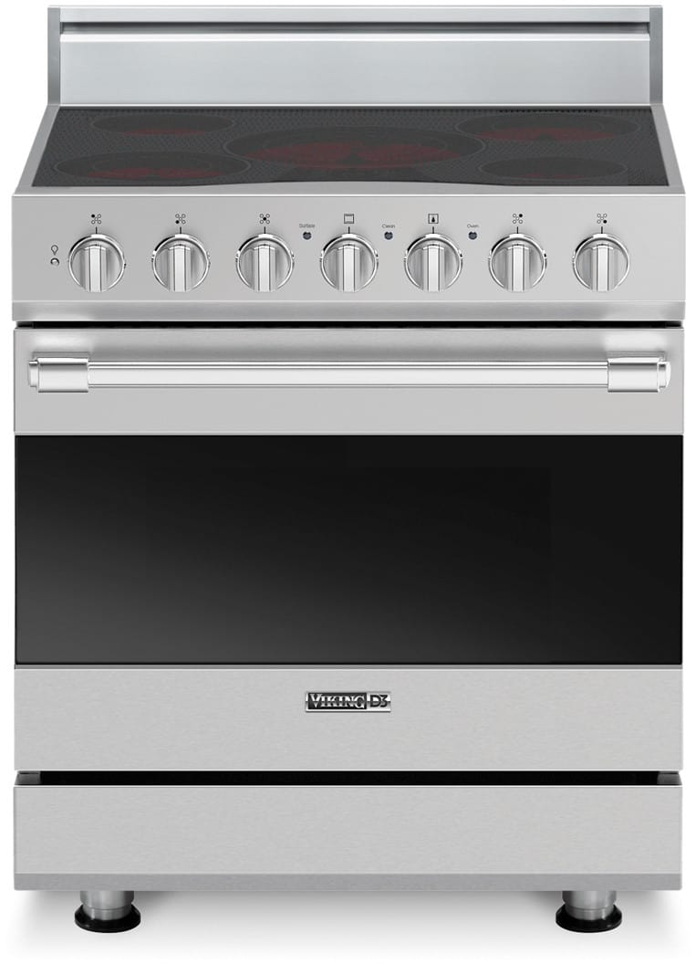viking electric range. viking rdsce2305bx 30 inch freestanding electric range with 5 surface elements 47 cu ft varispeed dual flow convection oven selfclean truglide full