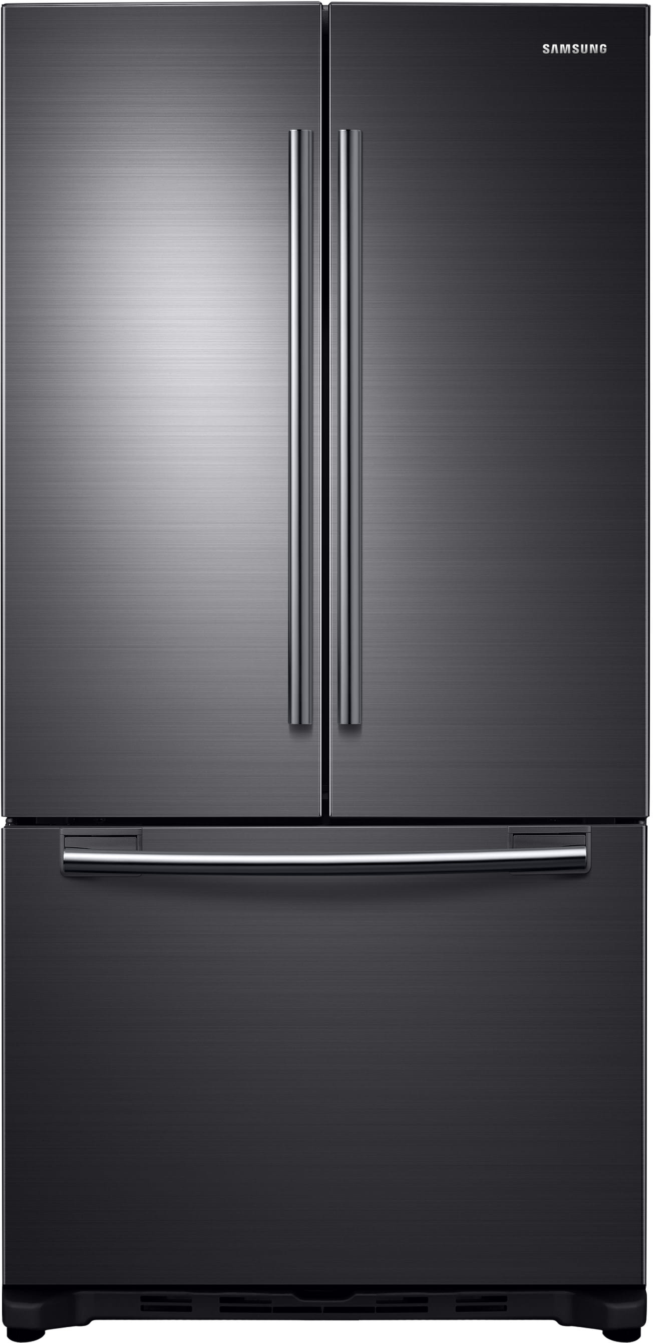 Samsung RF18HFENBSG 33 Inch Counter Depth French Door Refrigerator With  Twin Cooling, Filtered Icemaker, Power Freeze, Power Cool, 17.5 Cu. Ft.