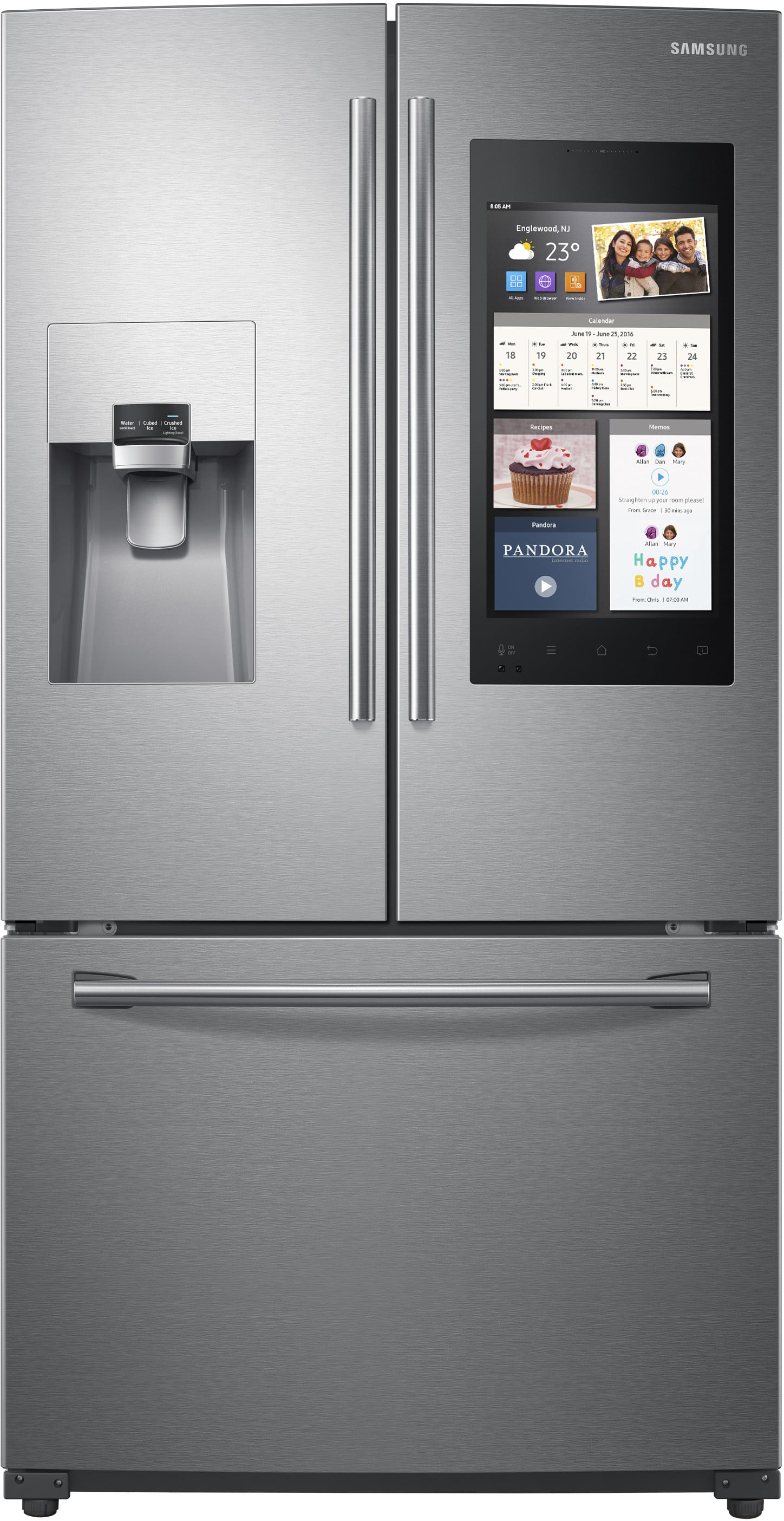 Samsung Rf265beaesr 36 Inch French Door Refrigerator With