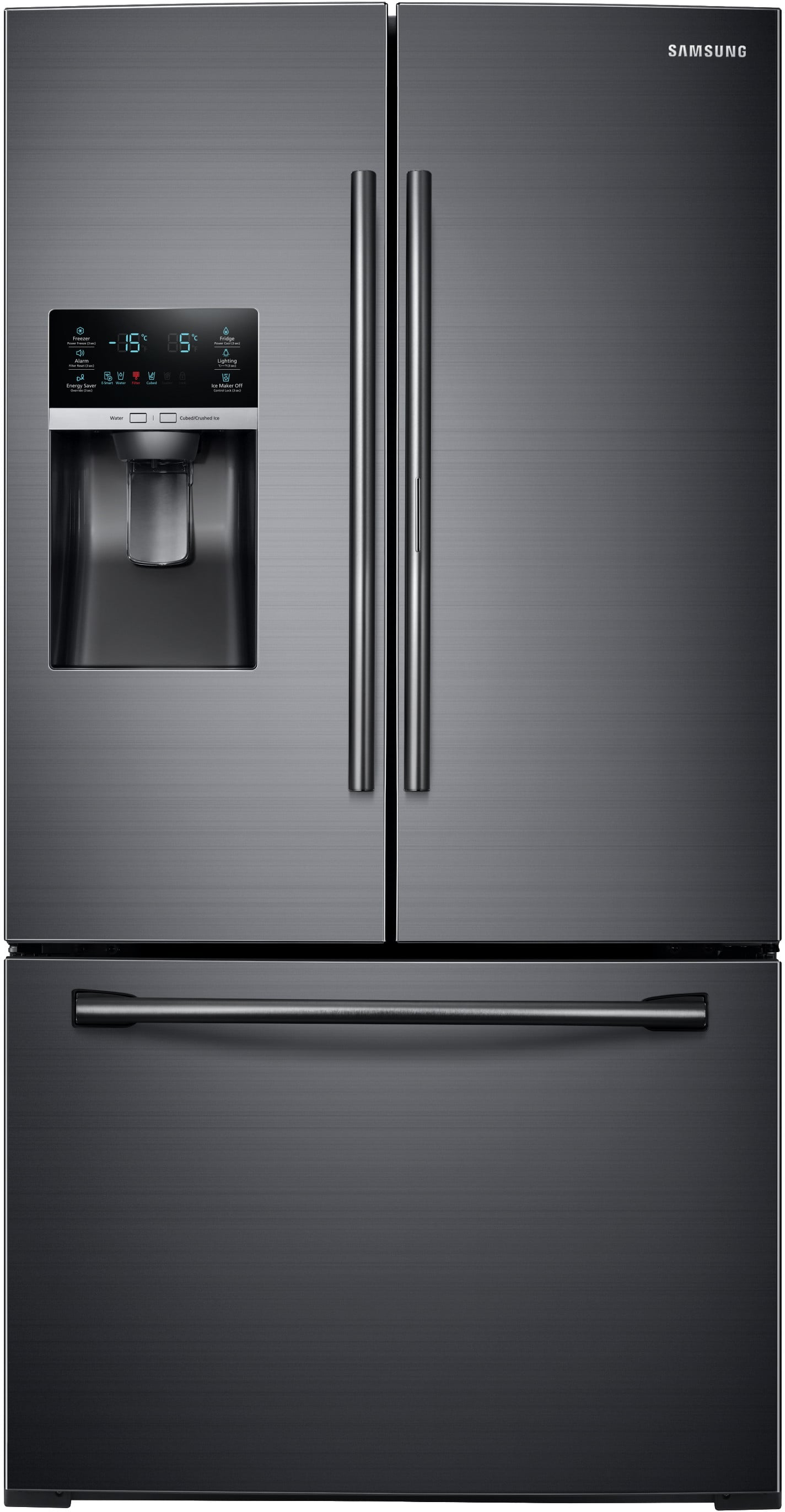 Samsung Rf28Hdedbsg 36 Inch French Door Refrigerator With Showcase Door,