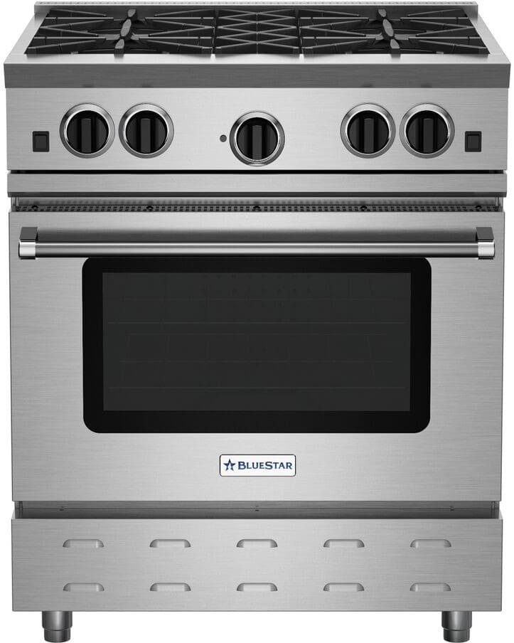 Bluestar Rnb304bv2ng 30 Inch Freestanding Gas Range With 4