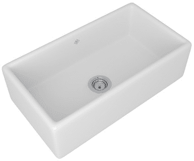 Rohl RC3318PCT 33 Inch Single Bowl Fireclay Kitchen Sink with Apron ...