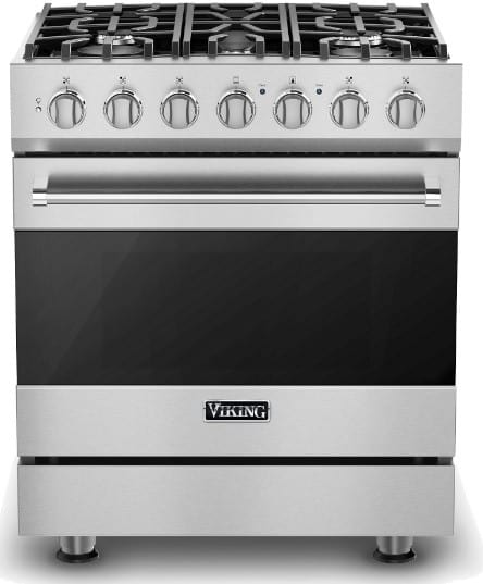 Viking Rvdr33025bss 30 Inch Freestanding Dual Fuel Range With 5