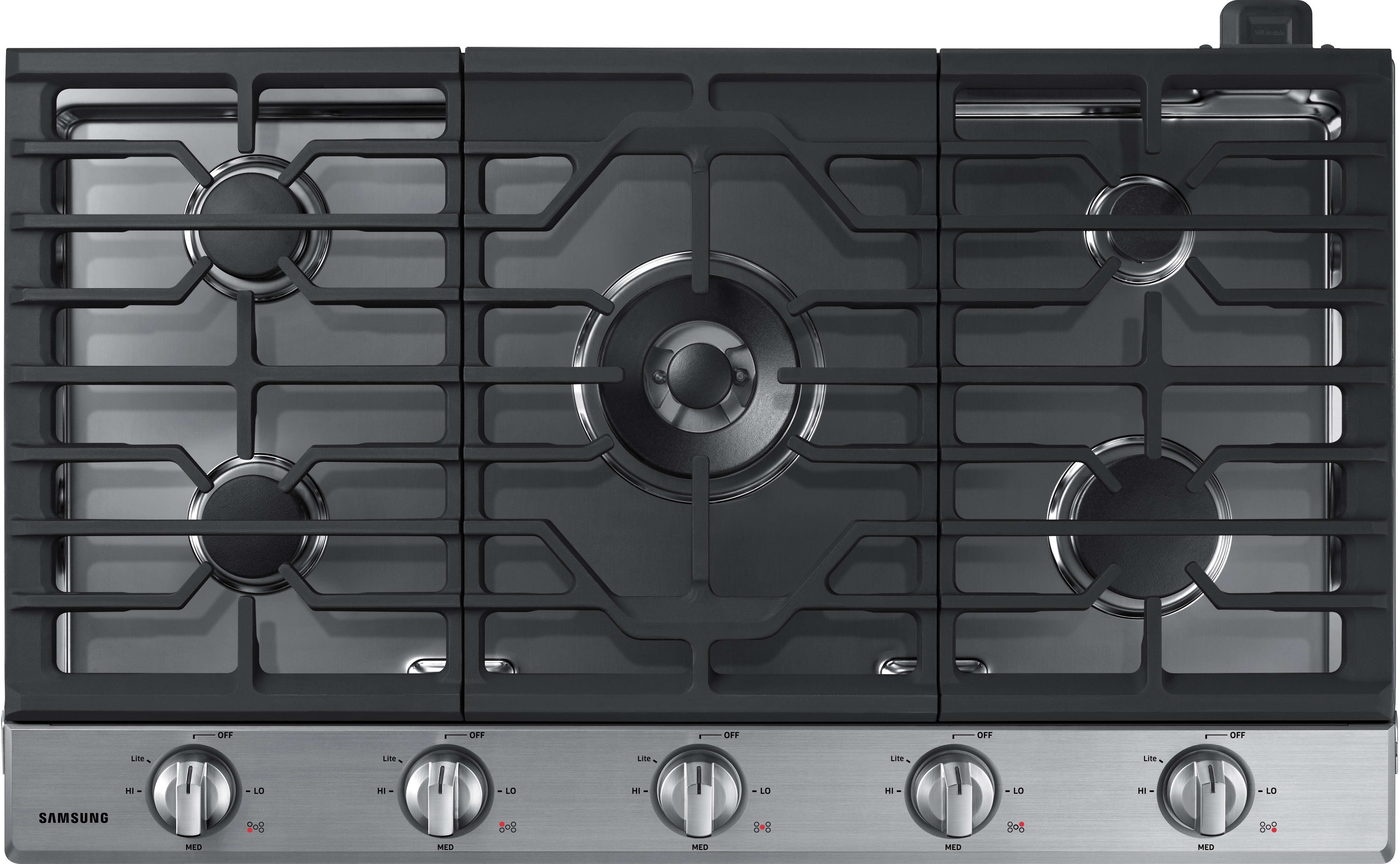 Samsung Na36k6550ts 36 Inch Gas Cooktop With 5 Sealed