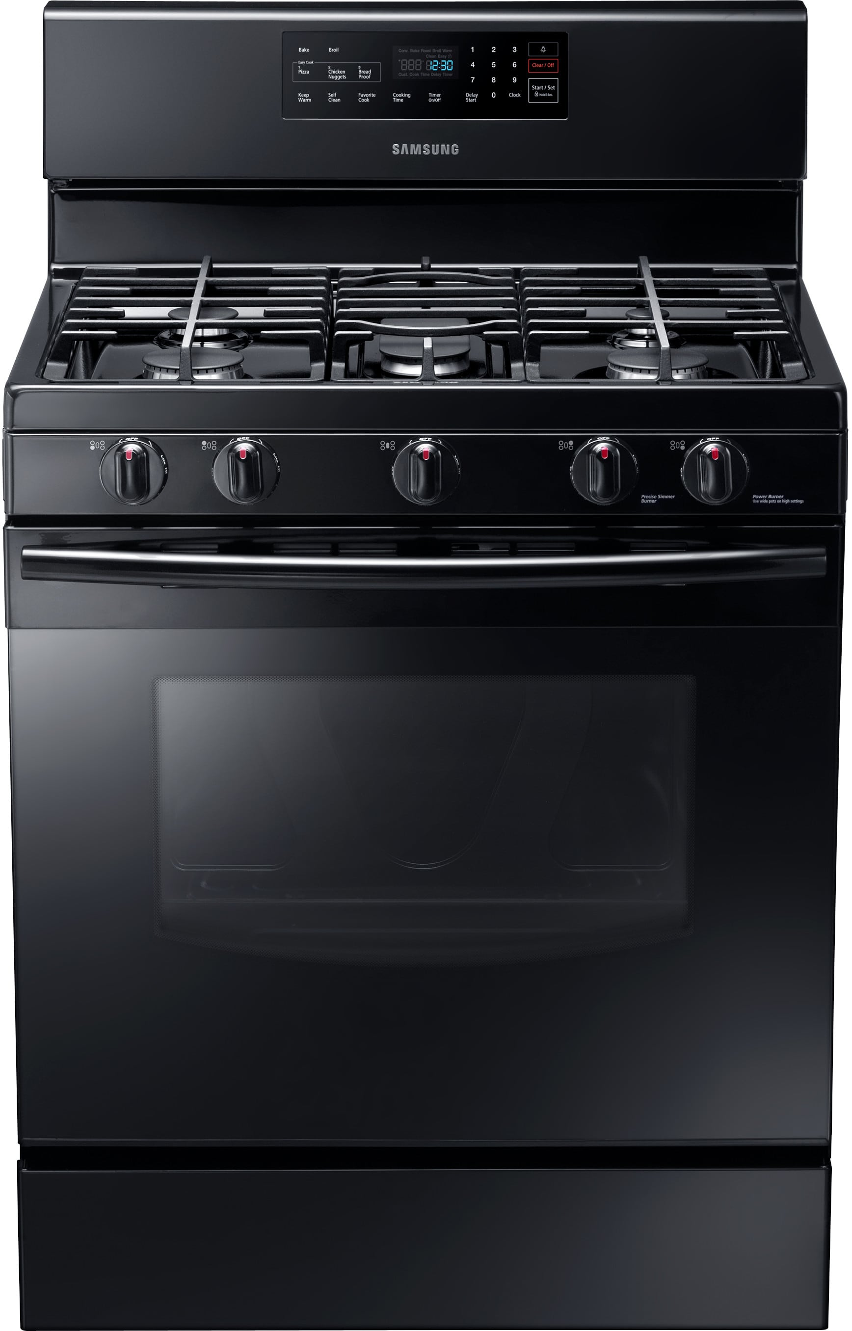 Samsung Nx58f5500sb 30 Inch Freestanding Gas Range With 5