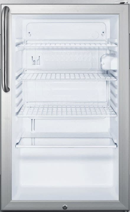 Summit Scr450lbi7tb 20 Inch Commercial Compact Refrigerator With
