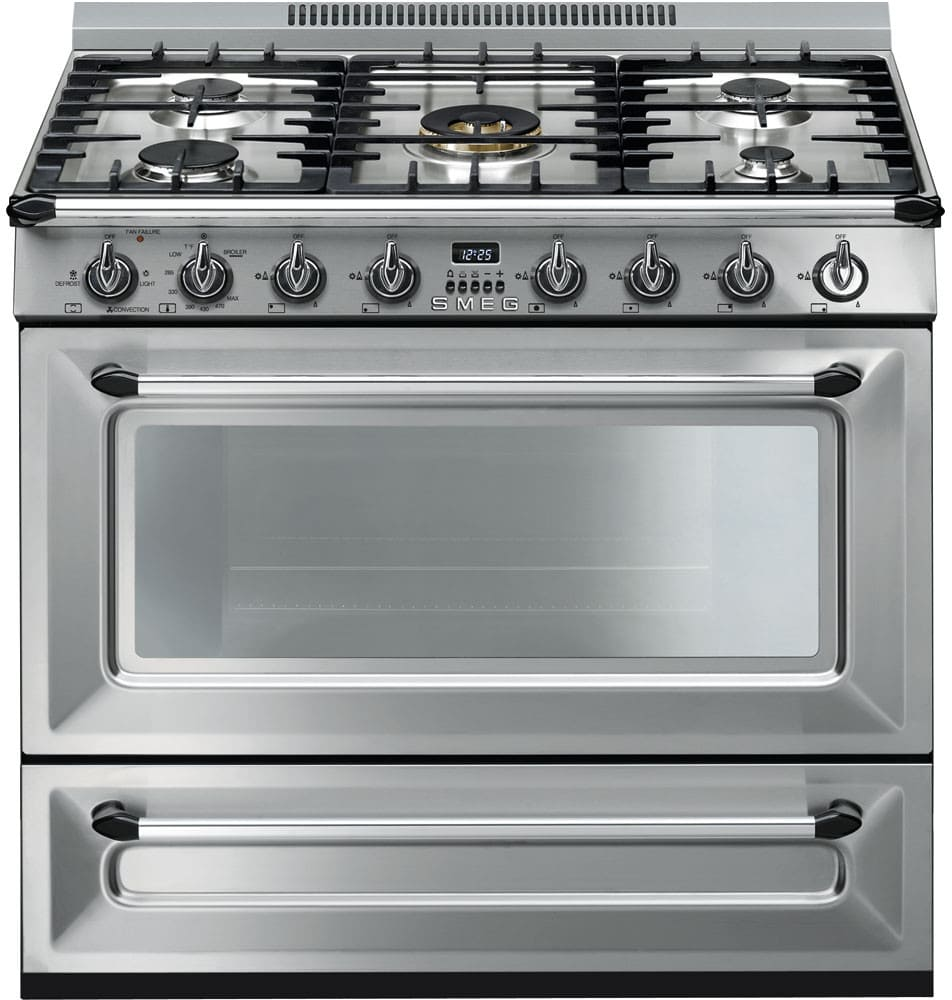 Smeg Tru36ggx 36 Inch Freestanding Gas Range With 5