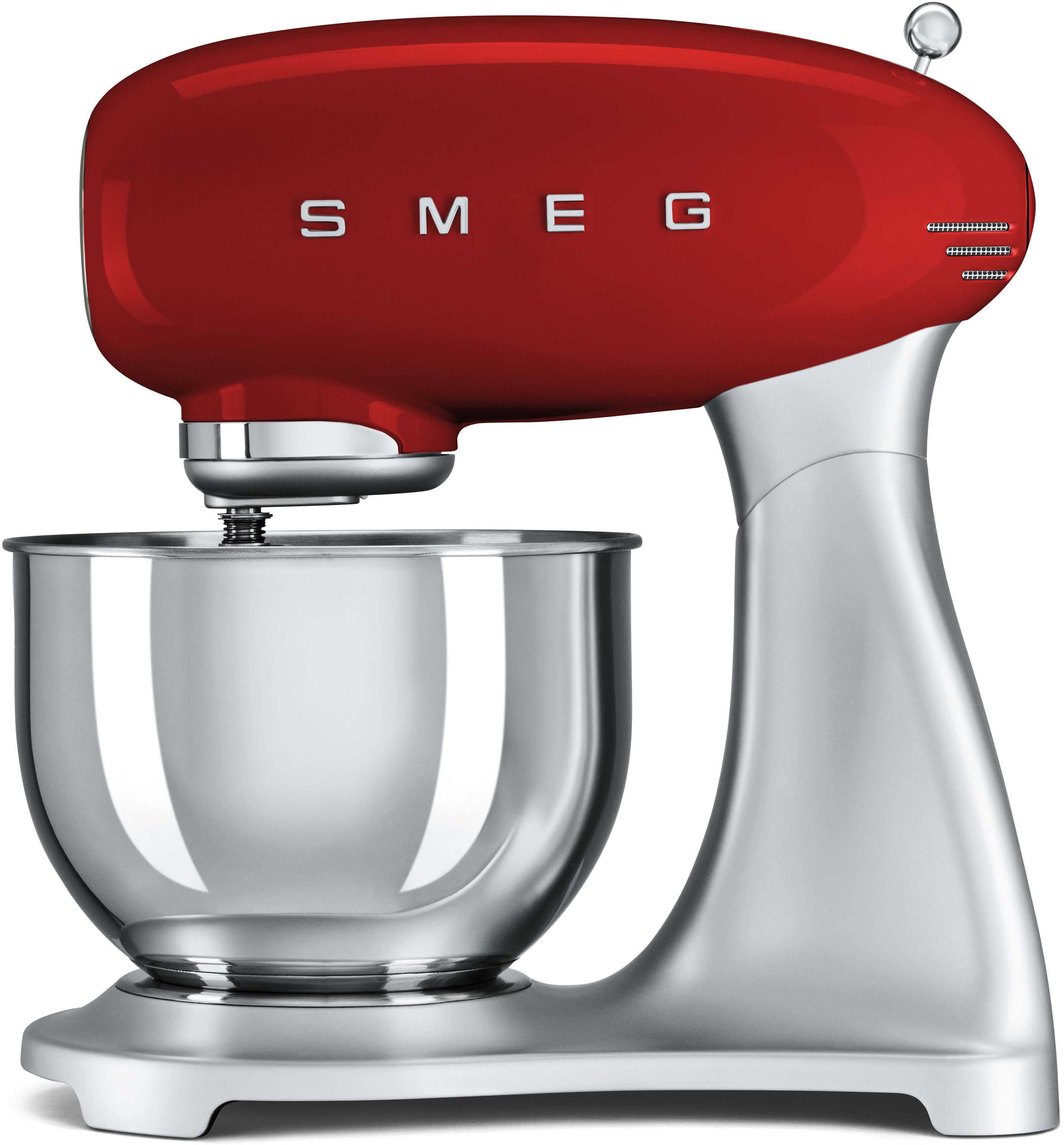 Smeg Smf01rdus Countertop Stand Mixer With 10 Sds 3 Attachments Included Planetary Action 5 Qt Stainless Steel Bowl And Ergonomic Handle Red