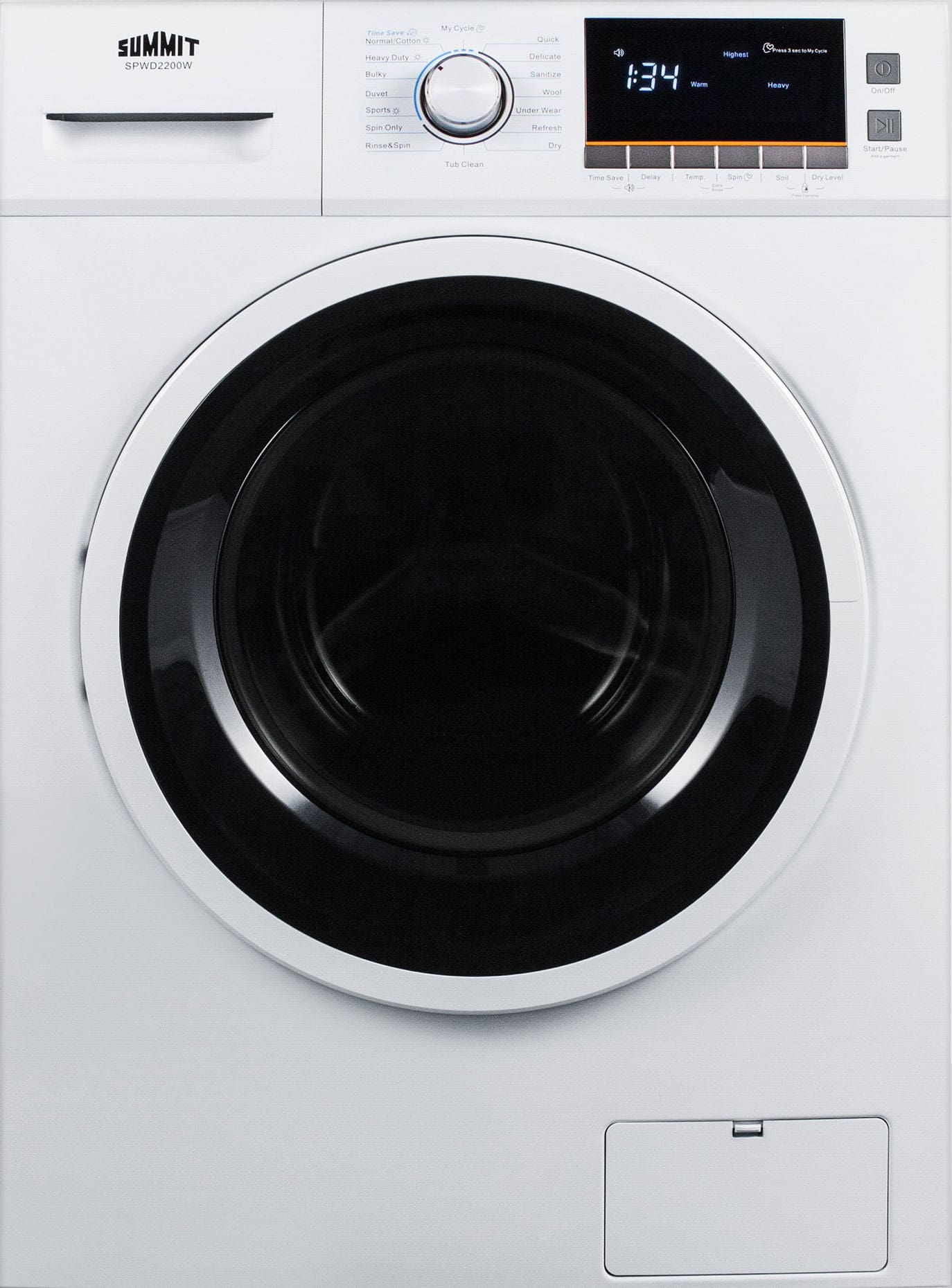 Miele stackable washer dryer ventless -  Front Load Washer Dryer Combo With 2 0 Cu Ft Capacity 7 Wash Cycles Sanitize Cycle 4 Temperature Settings 1 200 Rpm Spin Speed And Ventless Drying