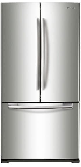 refrigerator 33 wide. samsung rf18hfenbsr - 33 inch counter depth french door refrigerator from wide