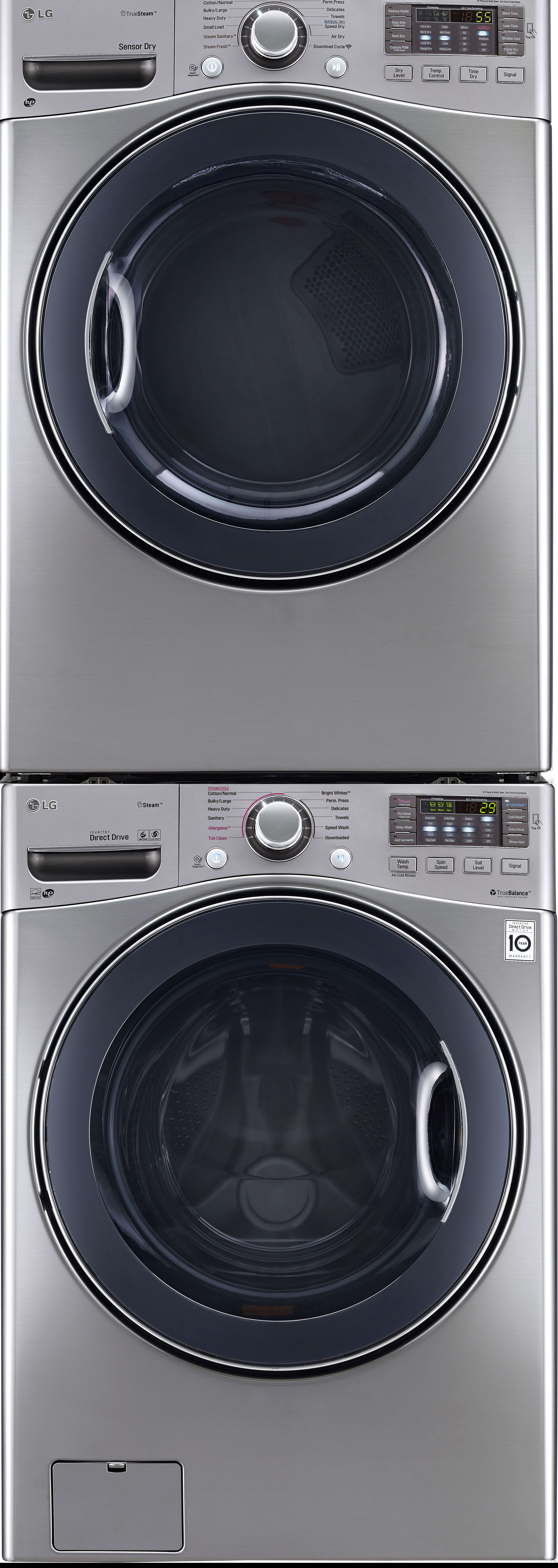 Lg Lgwadregs95 Stacked Washer Amp Dryer Set With Front Load