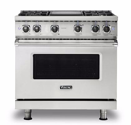 Viking Vgr5366bss 36 Inch Pro Style Gas Range With Proflow