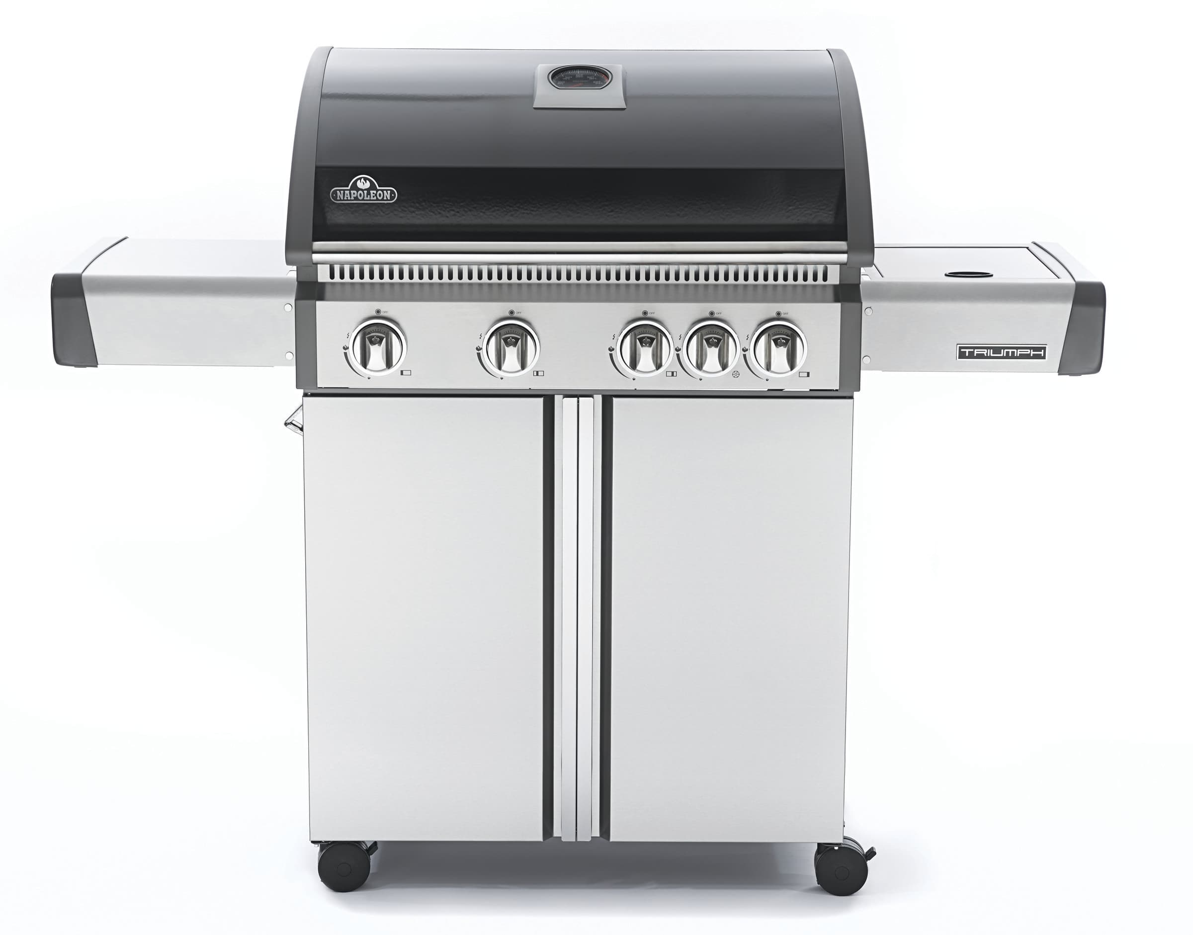 napoleon t495sbpk 56 inch freestanding gas grill with 645 sq in