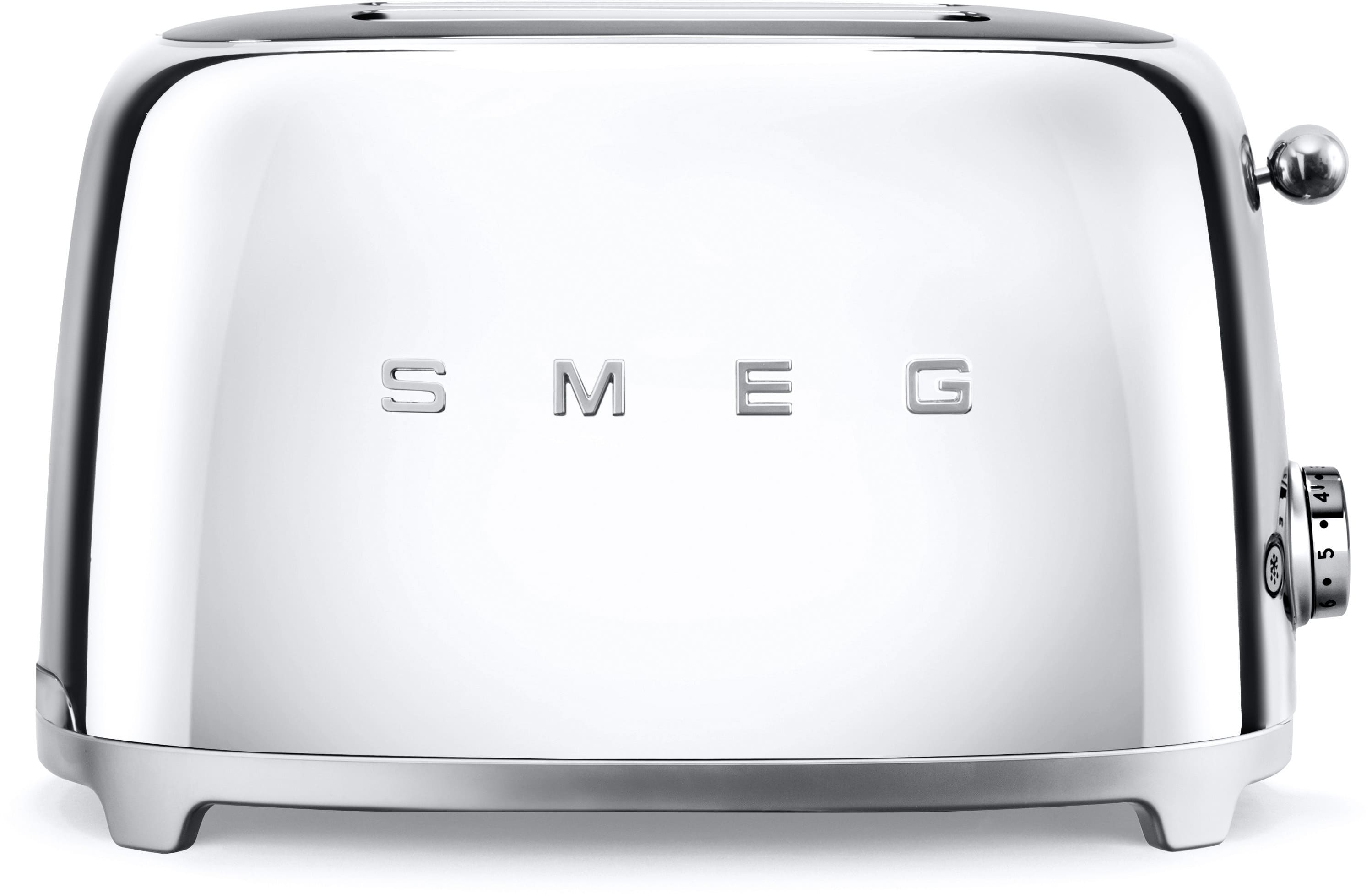 Smeg TSF01SSUS Countertop Toaster with 2 Slice Capacity Defrost