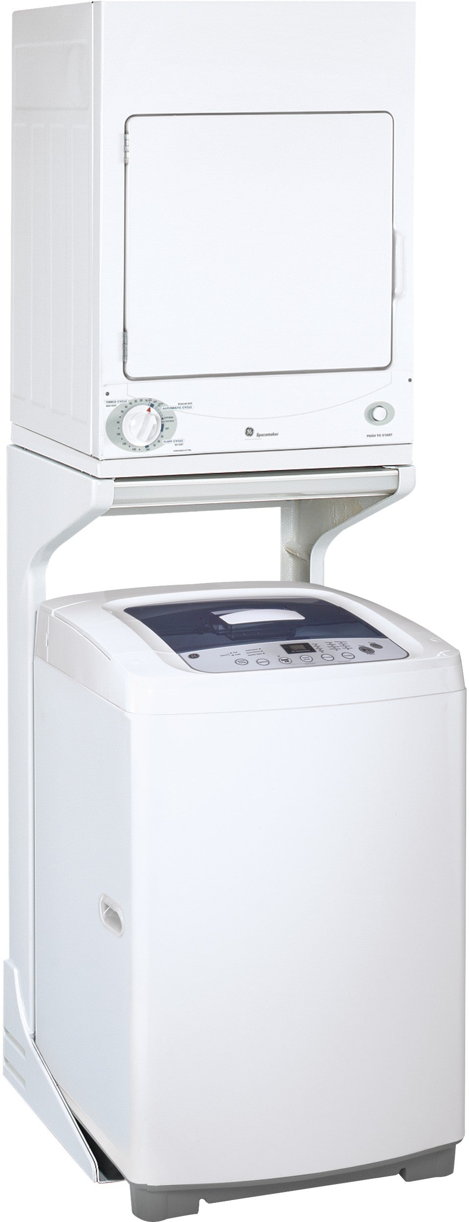 Ge Gewadrew8 Stacked Washer Amp Dryer Set With Top Load