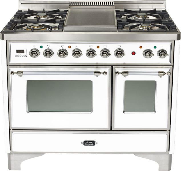 Ilve Majestic Collection Umd1006dmpbx True White With Chrome Trim