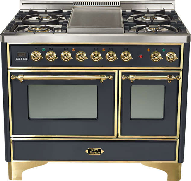 Ilve Umd100fdmpm 40 Inch Freestanding Dual Fuel Range With
