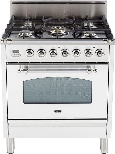 Ilve Upn76dvggby 30 Inch Professional Style Gas Range With