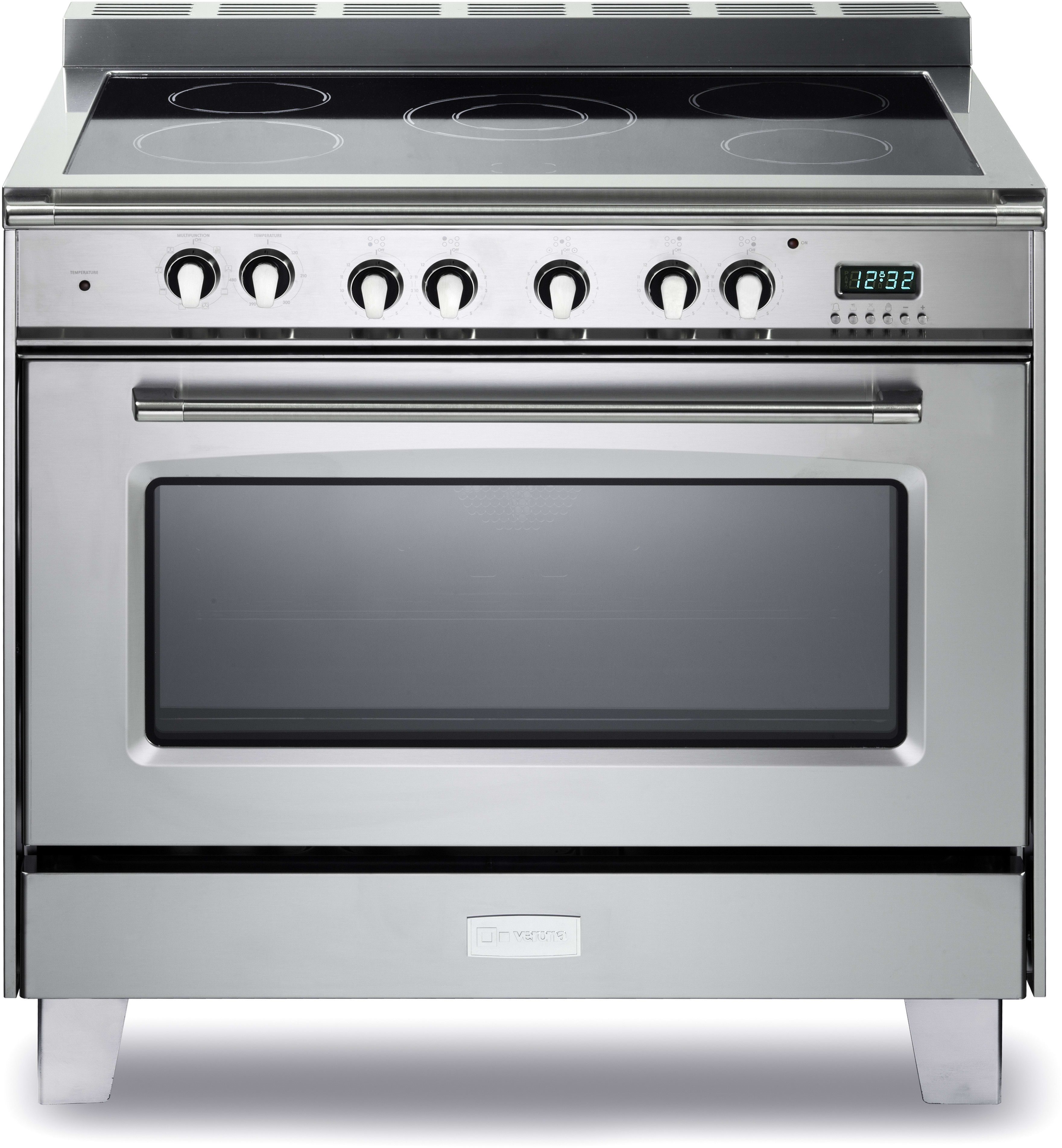 verona vclfsee365ss 36 inch freestanding electric range with 5 cooktop heat zones 4 0 cu ft. Black Bedroom Furniture Sets. Home Design Ideas