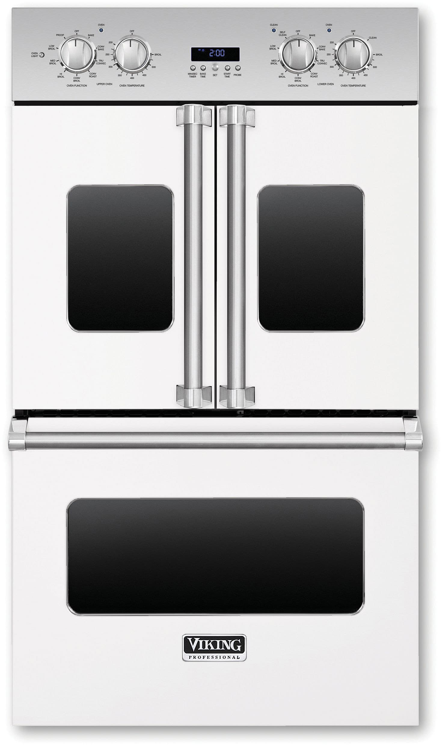 Viking Vdof730wh 30 Inch Double Electric French Door Oven