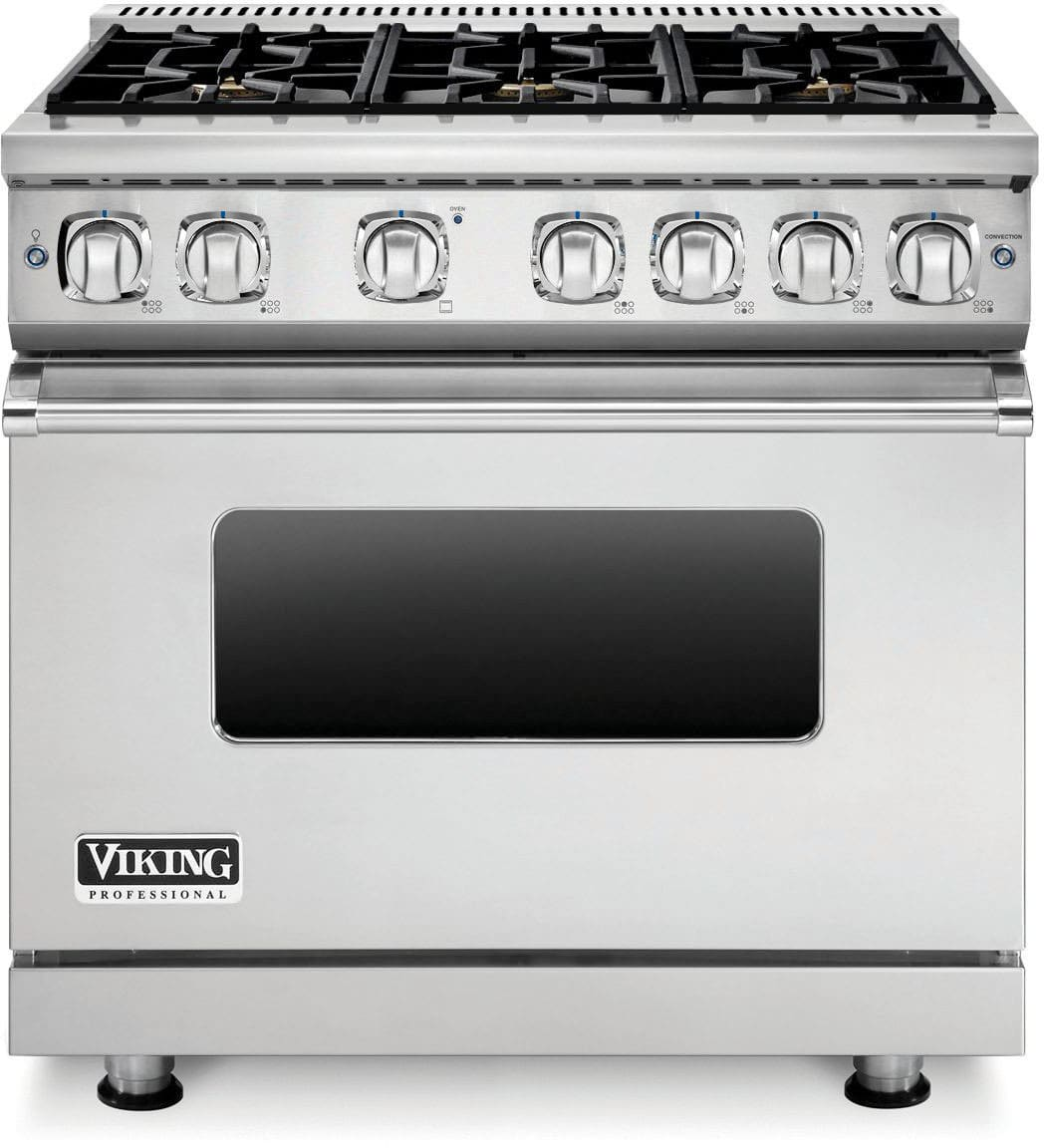 Viking VGR73616B 36 Inch Gas Range with 6 Sealed Burners, 5.1 cu ...