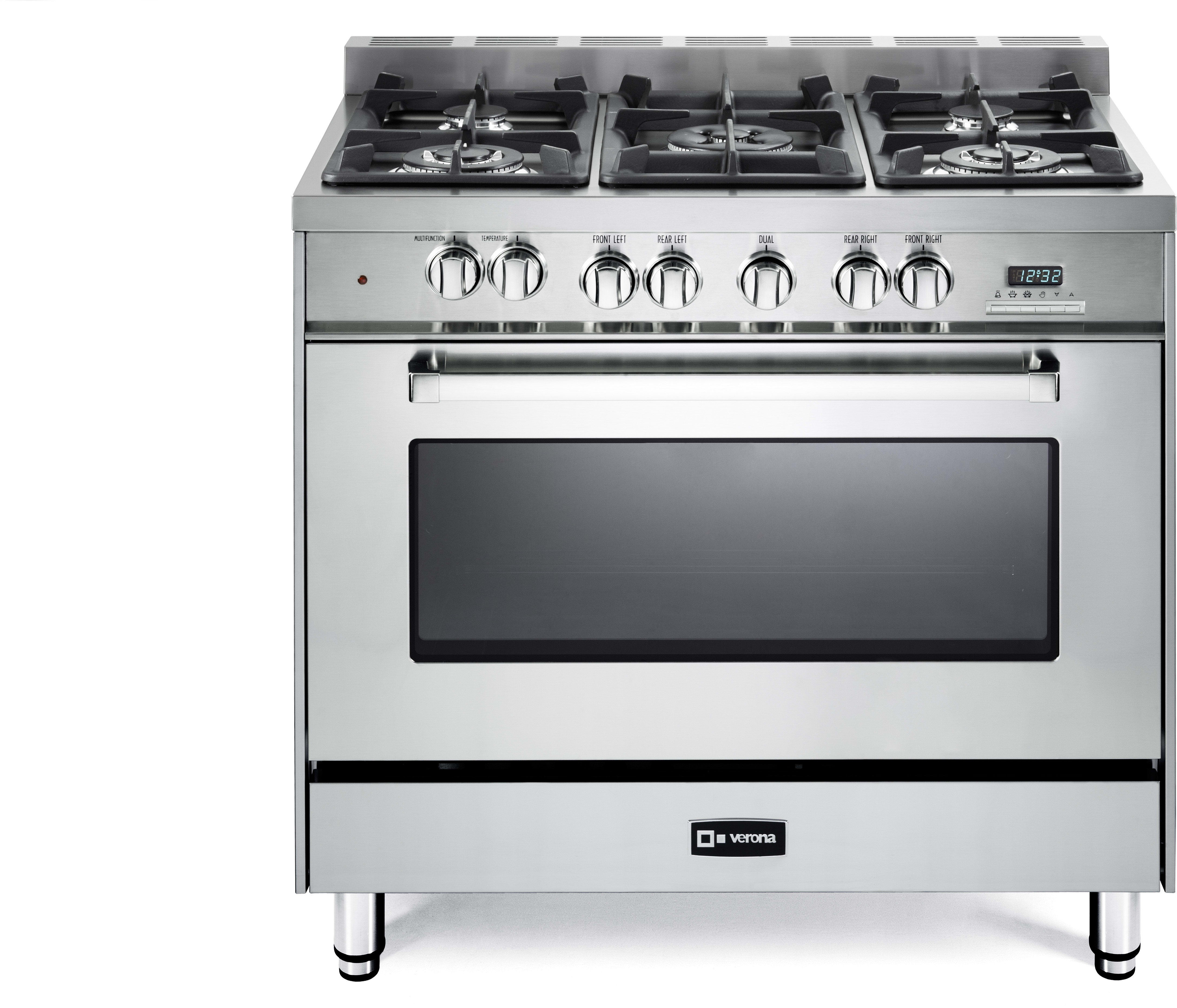 Verona Vefsge365nss 36 Inch Pro Style Dual Fuel Range With