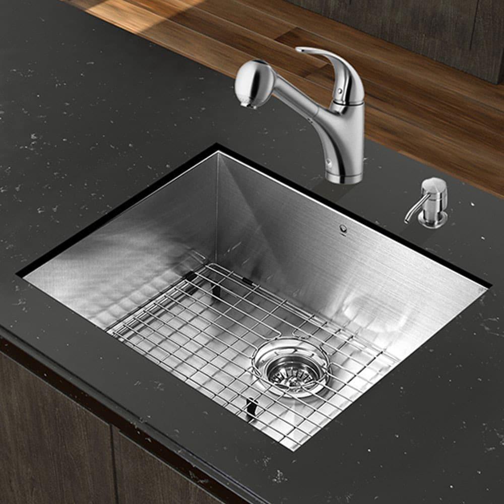 Vigo Industries VG15352 23 Inch All-in-One Undermount Kitchen Sink ...