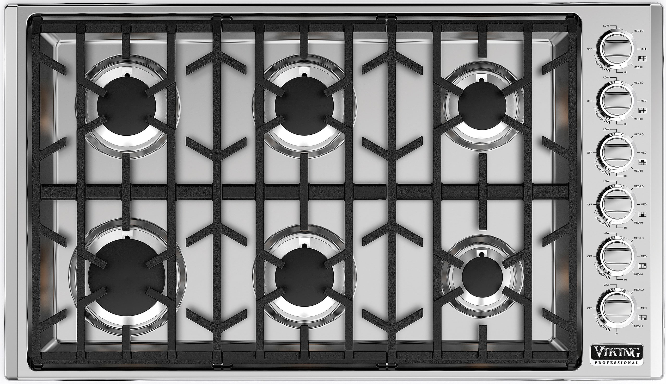 Viking Vgsu5366bss 36 Inch Gas Cooktop With Continuous