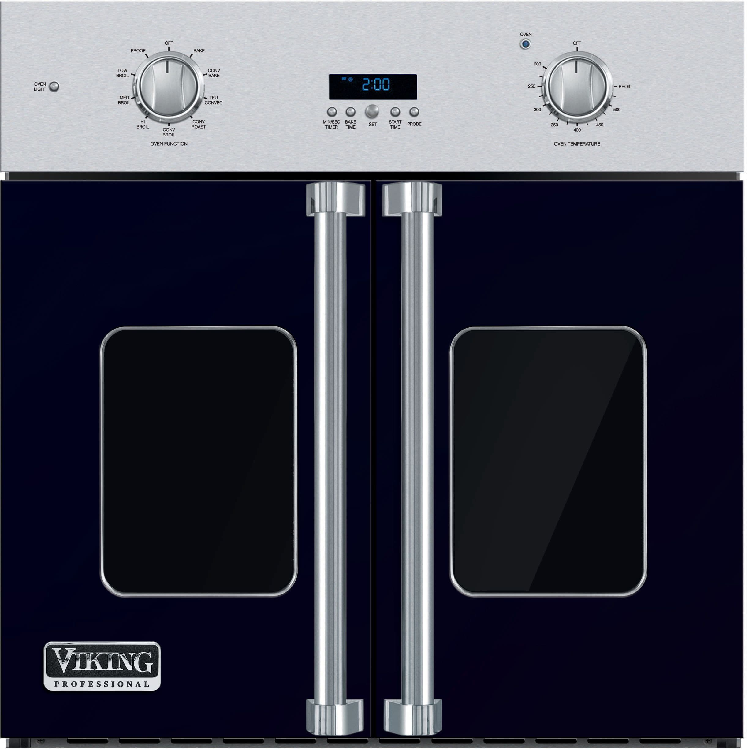 Viking Vsof730cb 30 Inch Single French Door Wall Oven With