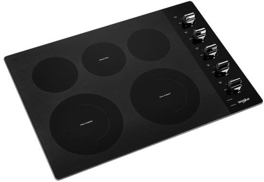 Whirlpool Wce77us0hb 30 Inch Electric Cooktop With 5