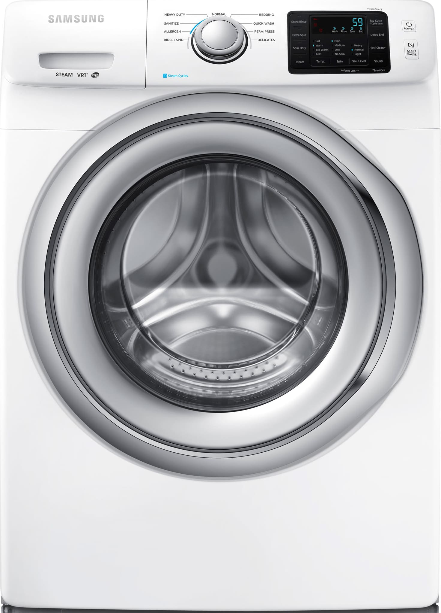 Samsung wf42h5200aw 27 inch 42 cu ft front load washer with samsung wf42h5200aw 27 inch 42 cu ft front load washer with steam wash nsf certified self clean allergen cycle sanitize cycle 9 wash cycles biocorpaavc Images