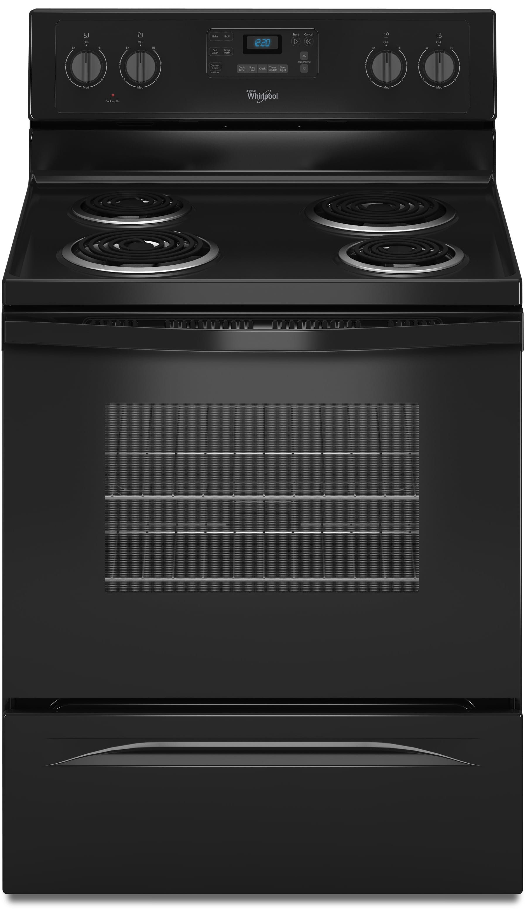 Whirlpool WFC310S0EB 30 Inch Freestanding Electric Range With 4 Coil  Elements, 2,600 Watts, 4.8 Cu. Ft. Traditional Oven, Self Cleaning System  And AccuBake ...